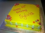 Yellow garden cake