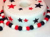 18th numerical cake red and black2