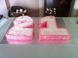 21 birthday stars pink