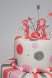 18th birthday cake spots and stripes