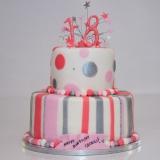 18th birthday cake spots and stripe2