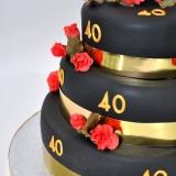 40th birthday black red roses