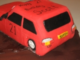 Peugeot rally cake