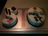 50th cake cowboy and rock n roll