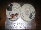 60th birthday cake cats