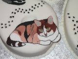 60th birthday cake cats2