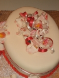 70th birthday cake, orchids2