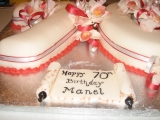 70th birthday cake, orchids4