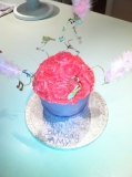 Girly giatn cupcake