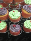 Green and Purple cupcakes