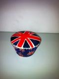 Union flag cupcake
