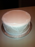 Lace design wedding cake