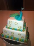 Peacock Wedding Cake 3