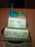 Peacock Wedding Cake 4