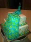 Peacock Wedding Cake 6
