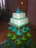 Peacock Wedding Cake 8