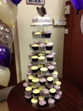 Purple and Silver Wedding Cake 3