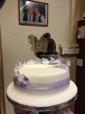 Purple and Silver Wedding Cake 4
