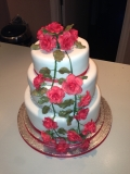 Red Roses and Diamond Wedding Cake 2