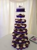 Purple Wedding Cupcake Tower