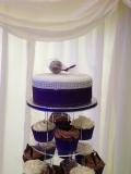 Purple Wedding Cupcake Tower 2