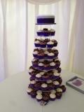 Purple Wedding Cupcake Tower 3