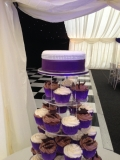 Purple Wedding Cupcake Tower 4
