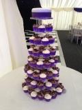 Purple Wedding Cupcake Tower 5