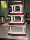 Square 4 tier Wedding Cake 5