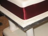 Square 4 tier Wedding Cake 2