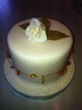 Single Flower wedding cake