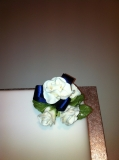Single square wedding cake 4