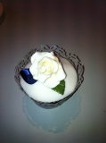Wedding rose cup cake