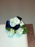 Single square wedding cake 2