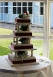 Square 4 tier Wedding Cake