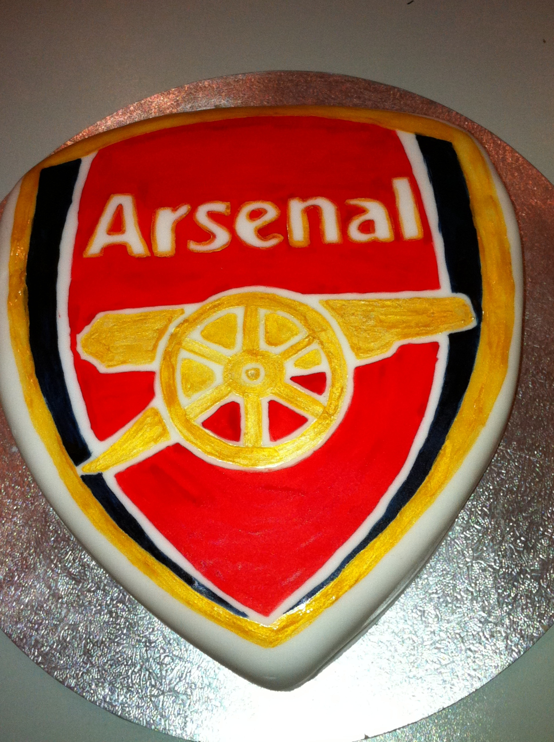 Pin Arsenal Birthday Cake April Cake on Pinterest
