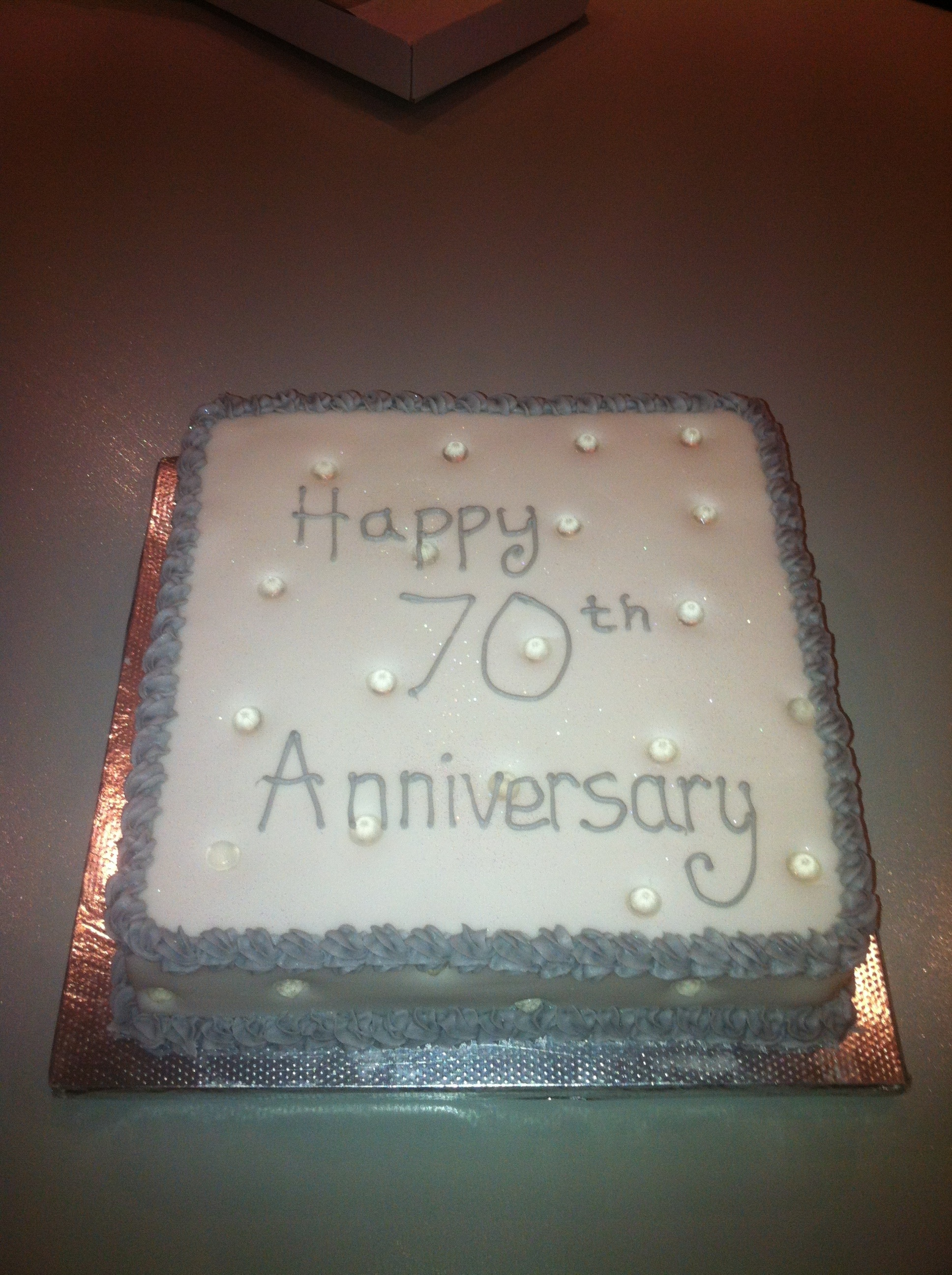 70th Wedding Anniversary Cake Cakes By Melissa