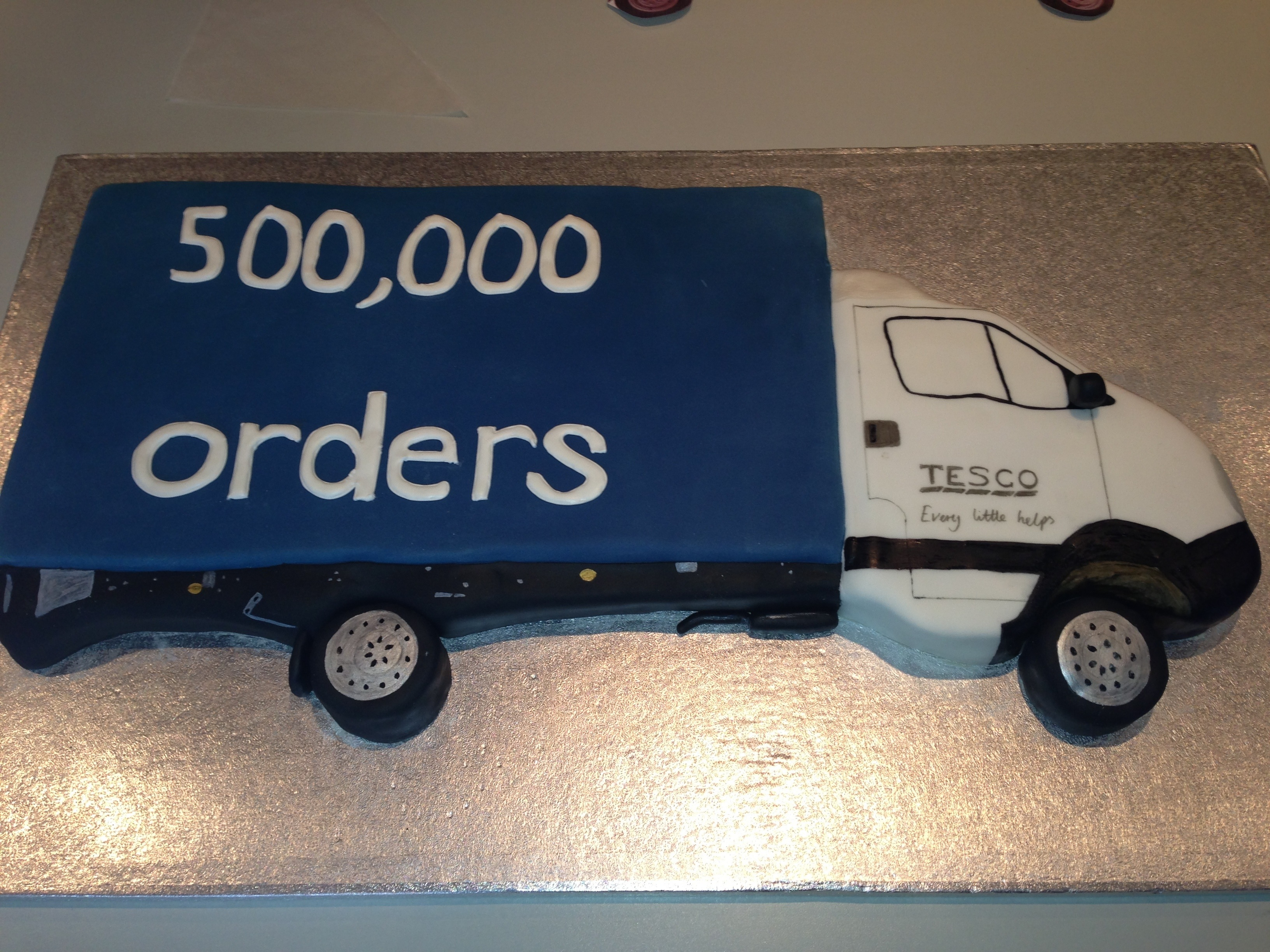 Tesco Lorry Delivery Cake 187 Cakes By Melissa